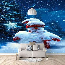 HWCUHL Wall Mural Wallpaper Christmas Snowman Wall