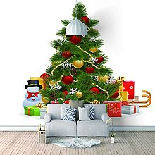 HWCUHL Wall Mural Wallpaper Christmas Tree