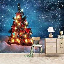 HWCUHL Wall Mural Wallpaper Color Christmas Tree