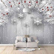 HWCUHL Wall Mural Wallpaper Creative Christmas
