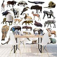 HWCUHL Wall Mural Wallpaper Forest Animals Poster
