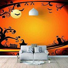 HWCUHL Wall Mural Wallpaper Halloween Bat Wall