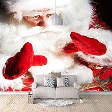 HWCUHL Wall Mural Wallpaper Santa with White Beard