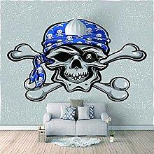 HWCUHL Wall Mural Wallpaper Skull Art Wall Sticker