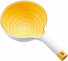 hwljxn Kitchen Silicone Double Drain Basket Bowl