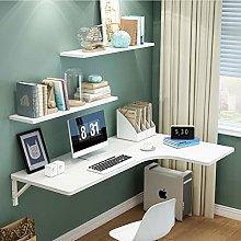 HX Corner Computer Desk,Folding Wall-Mounted