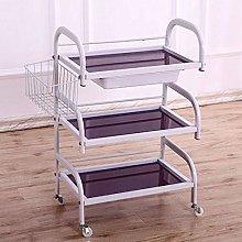 HXCD 3 Shelf Large Beauty Salon Trolley Cart Spa