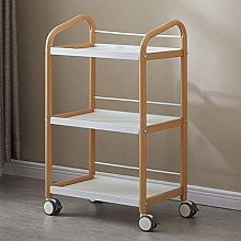 HXCD 3-Tier Metal Utility Service Cart Rolling