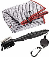 HXDY Golf Club Brush and Towel, Golf Club Cleaner,