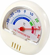 HXF Cute Small Indoor Outdoor Analog Thermometer