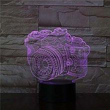 HXFGL 3D Night Light Camera USB LED Lamp