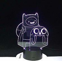HXFGL 3D Night Light Cartoon Table Desk Lamp