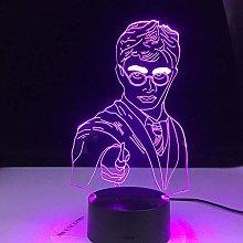HXFGL 3D Night Light Cool Movie Fans School Emblem