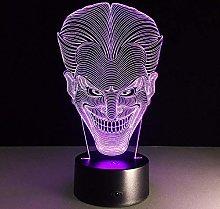HXFGL 3D Night Light Halloween Kids Gift Smile