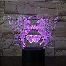 HXFGL 3D Night Light LED Animal Table Desk Lamp
