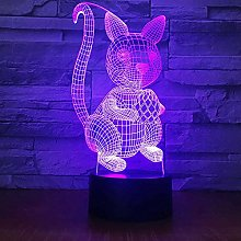 HXFGL 3D Night Light Squirrel Carry Nuts Lamp 7