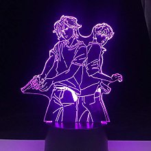 HXFGL 3D Night Lights 7 Color Changes LED Anime