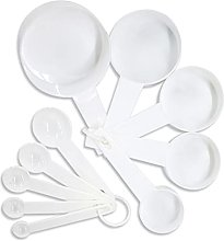 HXiaoF 10pcs 7 Color Measuring Cups and Measuring