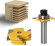 HXiaoF 2Pc 6 Piece Slot Cutter 3 Wing Router Bit