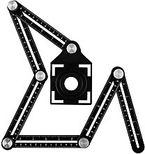 HXiaoF Aluminum Alloy Six-Sided Ruler Measuring