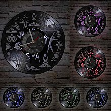 hxjie A real vinyl wall clock suitable for SPA