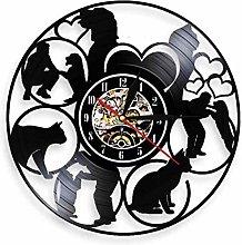 hxjie Animal care vinyl wall clock animal care