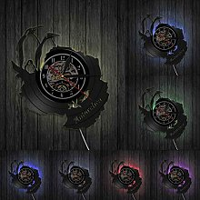 hxjie Beautiful wall clock with vinyl record,