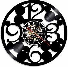 hxjie Big number vinyl record modern wall clock