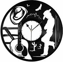 hxjie Country music vinyl wall clock-retro vinyl