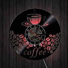 hxjie Decorative vinyl wall clock, coffee, coffee,