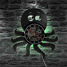 hxjie Kraken Octopus Vinyl Wall Clock, Nautical