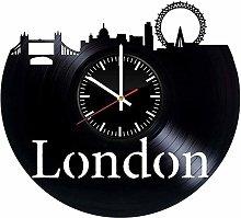 hxjie London landscape vinyl wall clock-retro