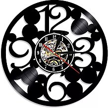 hxjie Real vinyl big digital wall clock modern
