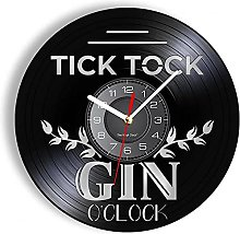 hxjie Vinyl wall clock for cocktail parties, bar