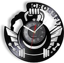hxjie Vinyl wall clock for gym inspirational