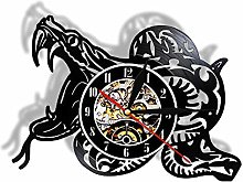 hxjie Vinyl wall clock for snake lovers, home