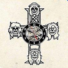 hxjie Vinyl Wall Clock-Rock Band Wall Clock-Retro