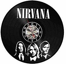 hxjie Vinyl Wall Clock-Rock Couple Wall