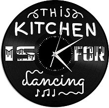 hxjie Vinyl wall clock This kitchen is a unique
