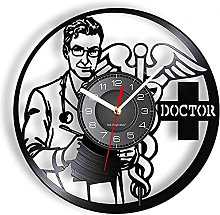hxjie Vinyl wall clock with doctor logo clinic