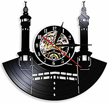 hxjie Vinyl wall clock with famous cities and