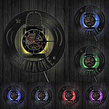 hxjie Vinyl wall clock with microphone, home