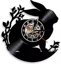 hxjie Vinyl wall clock with rabbit pattern,