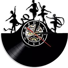 hxjie Vinyl wall clock with rotating ribbon for