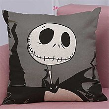 HXOUDAN Halloween Cartoon Skull Jack Cushion Cover