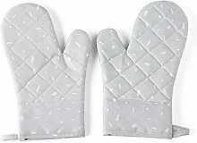 HXSJ Q Oven Mitts 1 Pair Of Rubber Insulated And