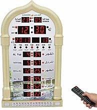 HXZB Muslim Azan Clock, LED Islamic Prayer Clock,
