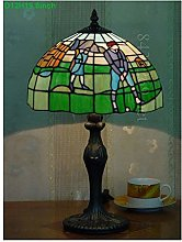 HY-WWK 8Inch Stained Glass Desk Table Lamp