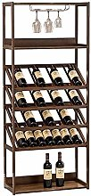 HY-WWK Bamboo Wine Rack Home Wine Cabinet Wine