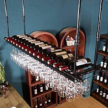 HY-WWK Cabinet Iron Home Red Wine Cup Rack Hanging